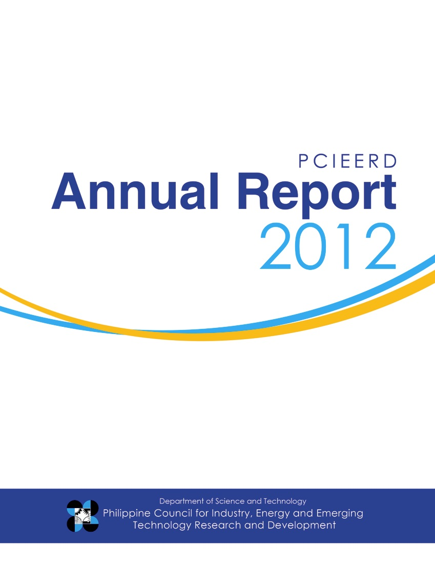 PCIEERD Annual Report 2012