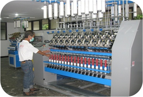 The R&D Laboratory of DOST-PTRI houses a ring spinning frame that can manufacture various types of yarns, specifically indigenous fibers blended with polyester or cotton for use in the production of Philippine tropical fabrics.